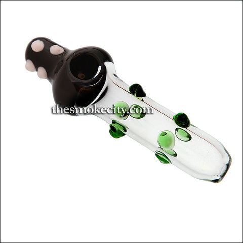 ST-1201 (6 inch Black and transparent Glass Steamroller pipe)