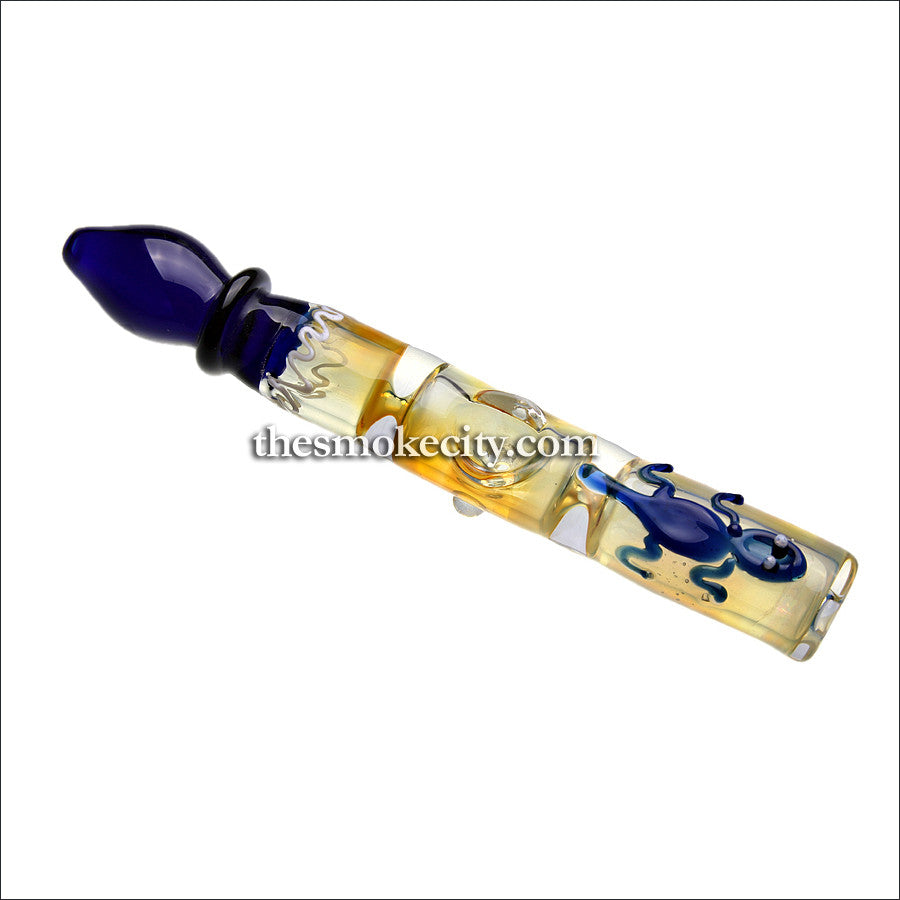 ST-1118 (8 inch Glass Steamroller with artwork)