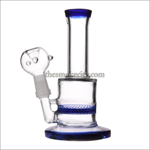WP- 1201 (7 inch Honey comb Percolator Blue Water Pipe)