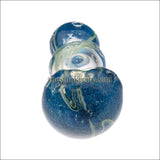 HP- 1204 ( 4 inch Blue Glass hand pipe)
