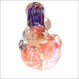 HP- 1210 ( 5 inch Pink Blue Glass Hand pipe)
