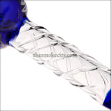 HP- 1213 (8 inch Blue Glass Spoon Pipe)