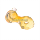 HP- 1216 (4 inch translucent Yellow Glass Pipe)