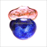 HP- 1217 ( 4 inch Pink and blue donut Glass pipe)
