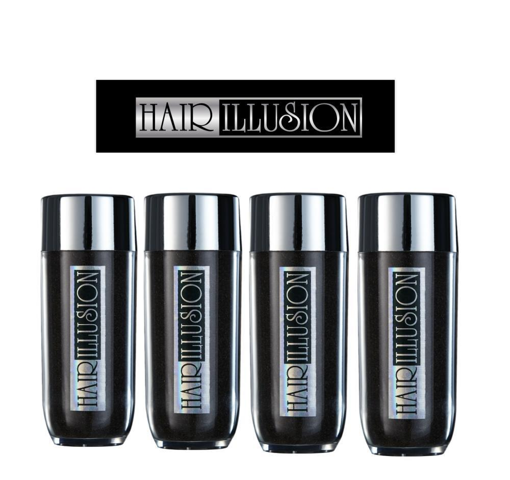 Real Hair Fibers 38g (Pack of 4 Bottles) - Hair Illusion Inc