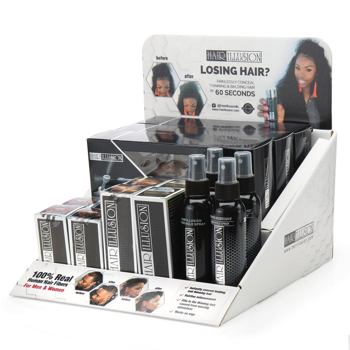 Hair Illusion Display - contact sales@hairillusion.com for wholesale price