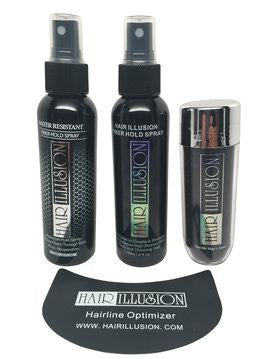 Spray, Water resistant, Optimizer, 38g Fiber - Hair Illusion Inc