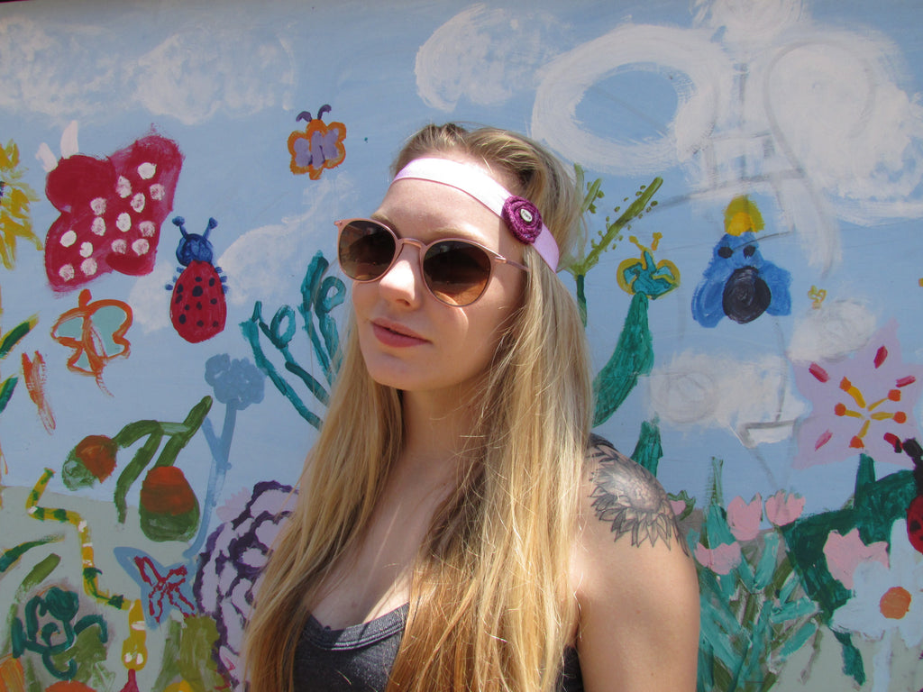 Peace Stretchy Boho Headband