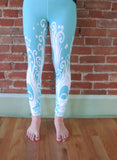 Blue Peacock Yoga Leggings