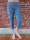 Slate Blue Yoga Pants-Capris