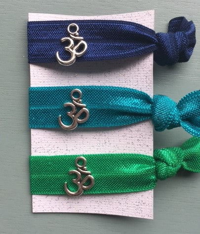 Om Elastic Hair Ties