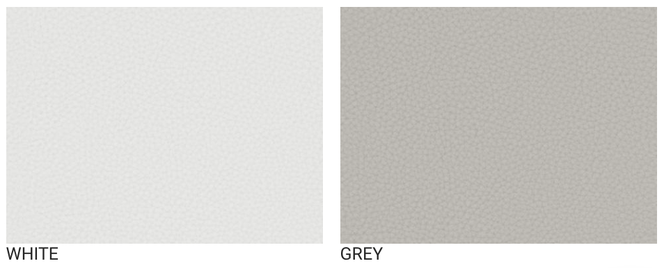 monte design enviroleather white and grey