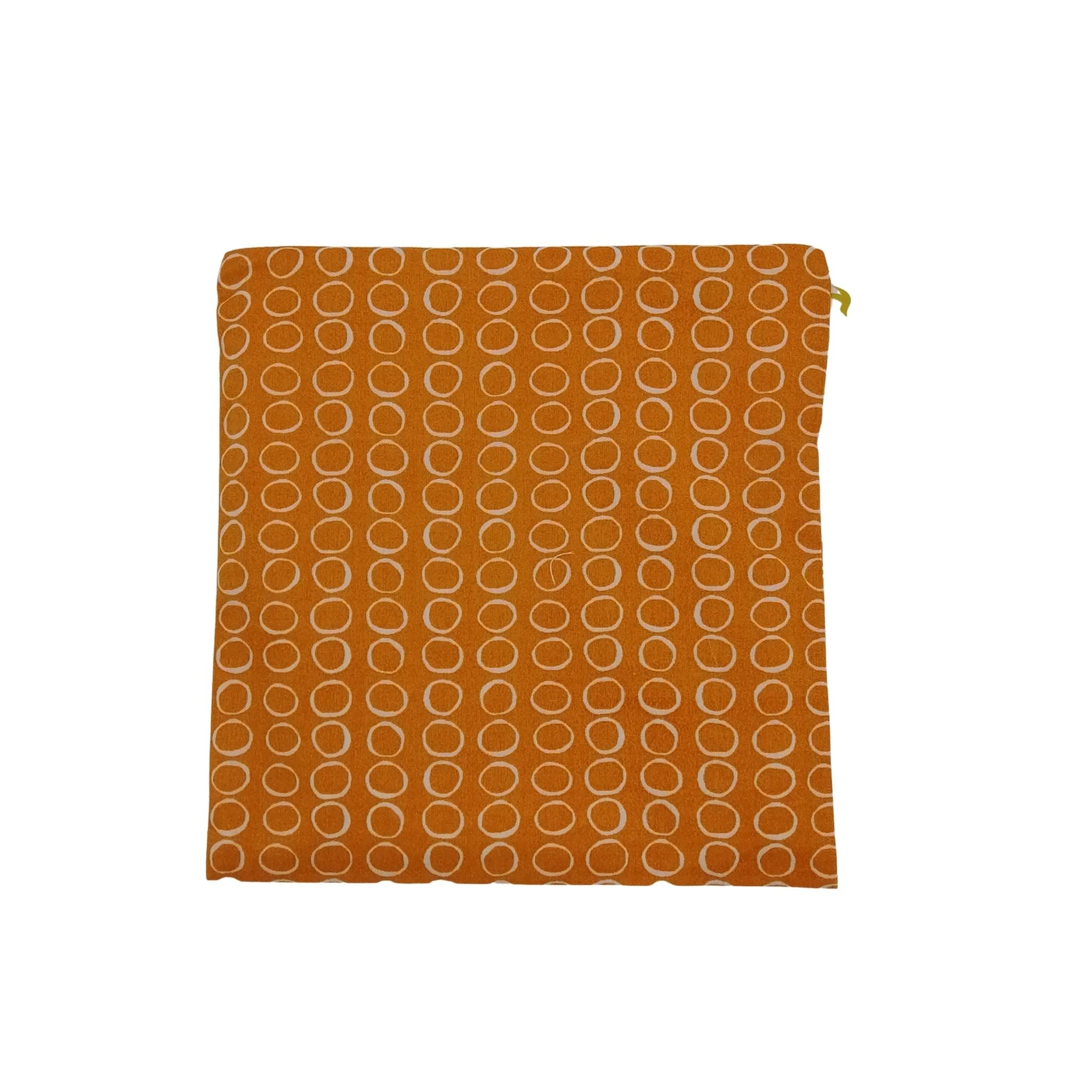 litsie large snack bag orange background with white circle pattern