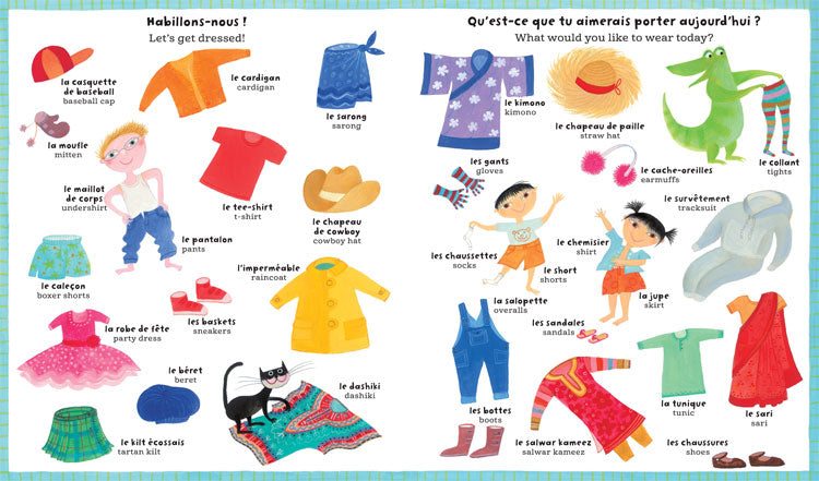 My Big Barefoot Book of French & English Words  -Go Green Baby