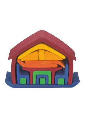 GluckskaferAll In One Wooden Toy House