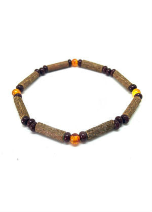 Hazelwood & Gemstone Bracelet