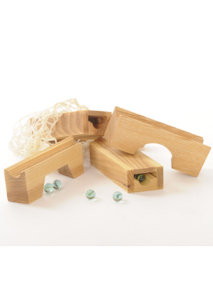 Marble Track Bridge-Tunnel Set  -Go Green Baby