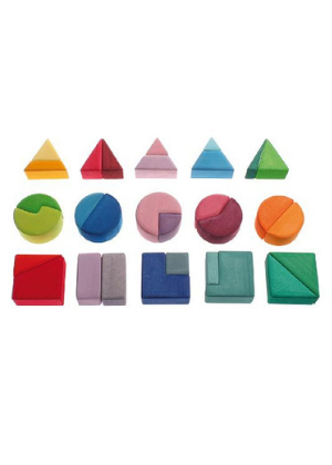 Grimm's Triangle, Square, Circle Building Set