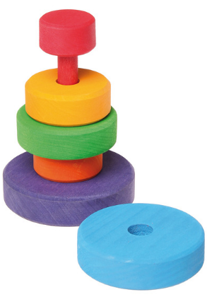 Grimm's Conical Stacking Tower Small  -Go Green Baby