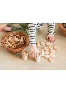 Wood Nins, Rings, and Coins  -Go Green Baby