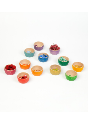 Grapat Wood Coloured Bowls