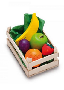 Wooden Fruit Set in Wooden Crate  -Go Green Baby