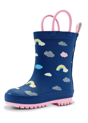 Jan & Jul Puddle-Dry Rain Boots - Rainbow