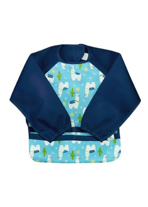 Greensprouts Long Sleeve Bib  -Go Green Baby