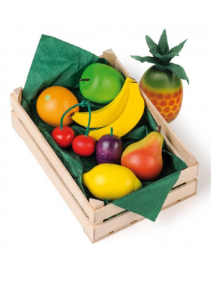 Erzi Wooden Fruit Set in Wooden Crate