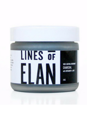 Lines of Elan Charcoal Deodorant Cream