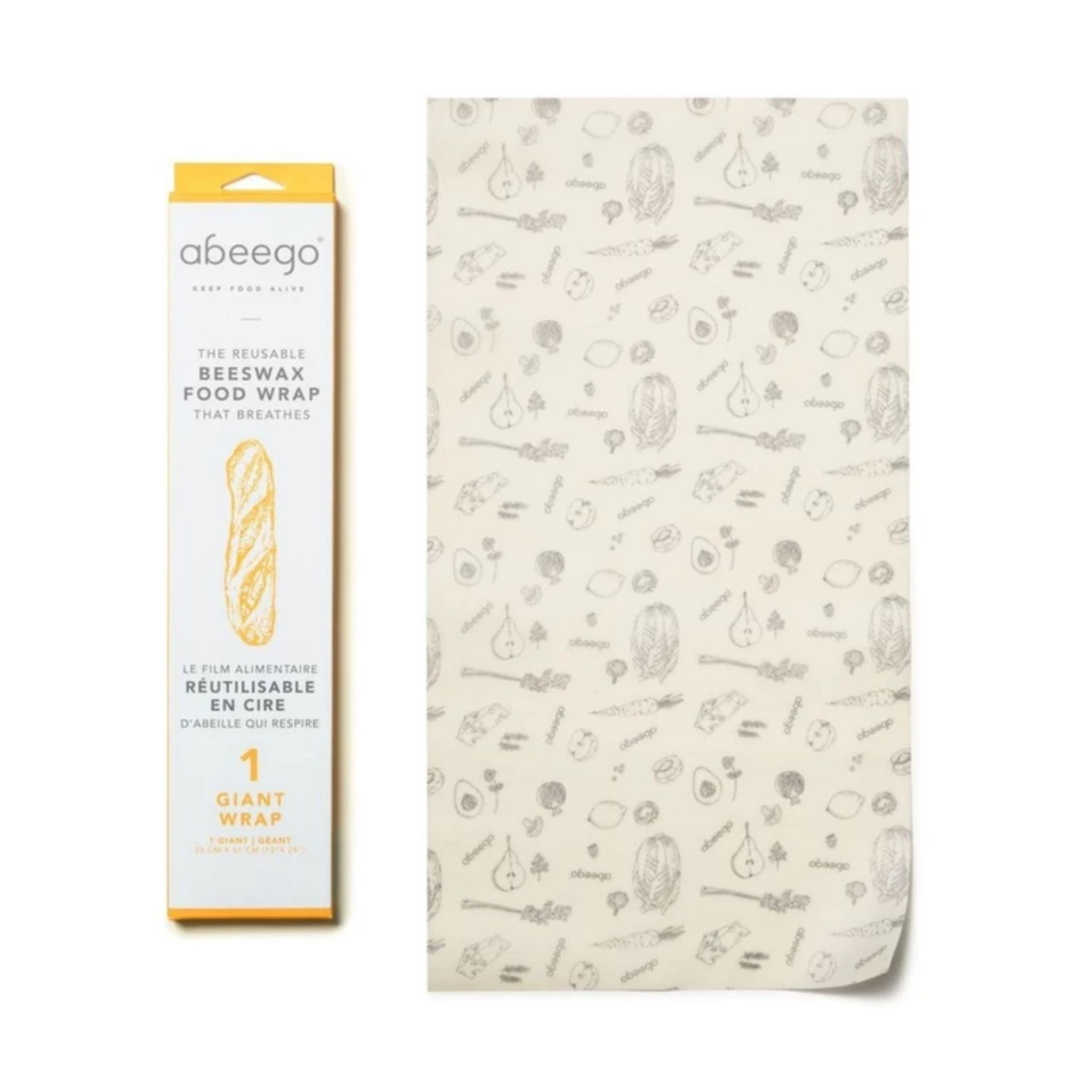 abeego beeswax wrap giant pack