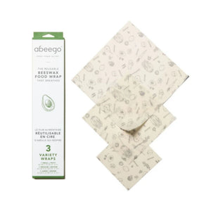 abeego beeswax wrap three pack