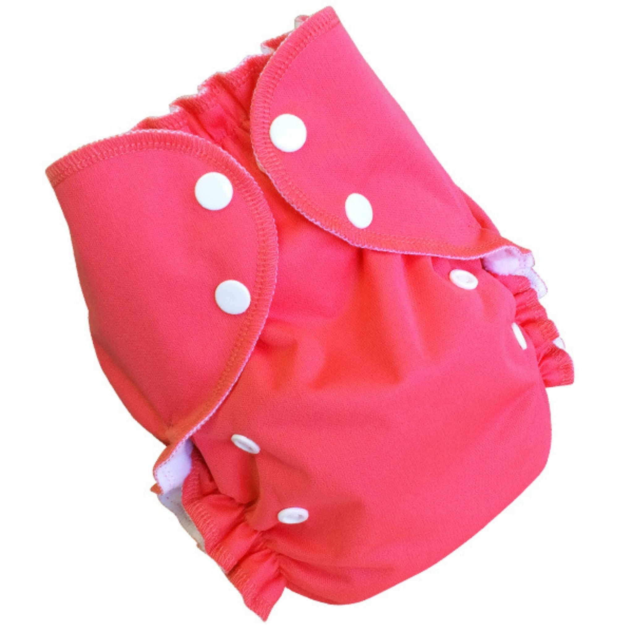 amp one size duo cloth diaper papaya hot pink