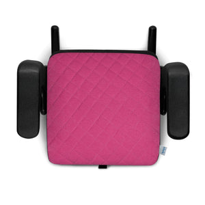 clek olli booster seat flamingo x, hot pink with x pattern black base
