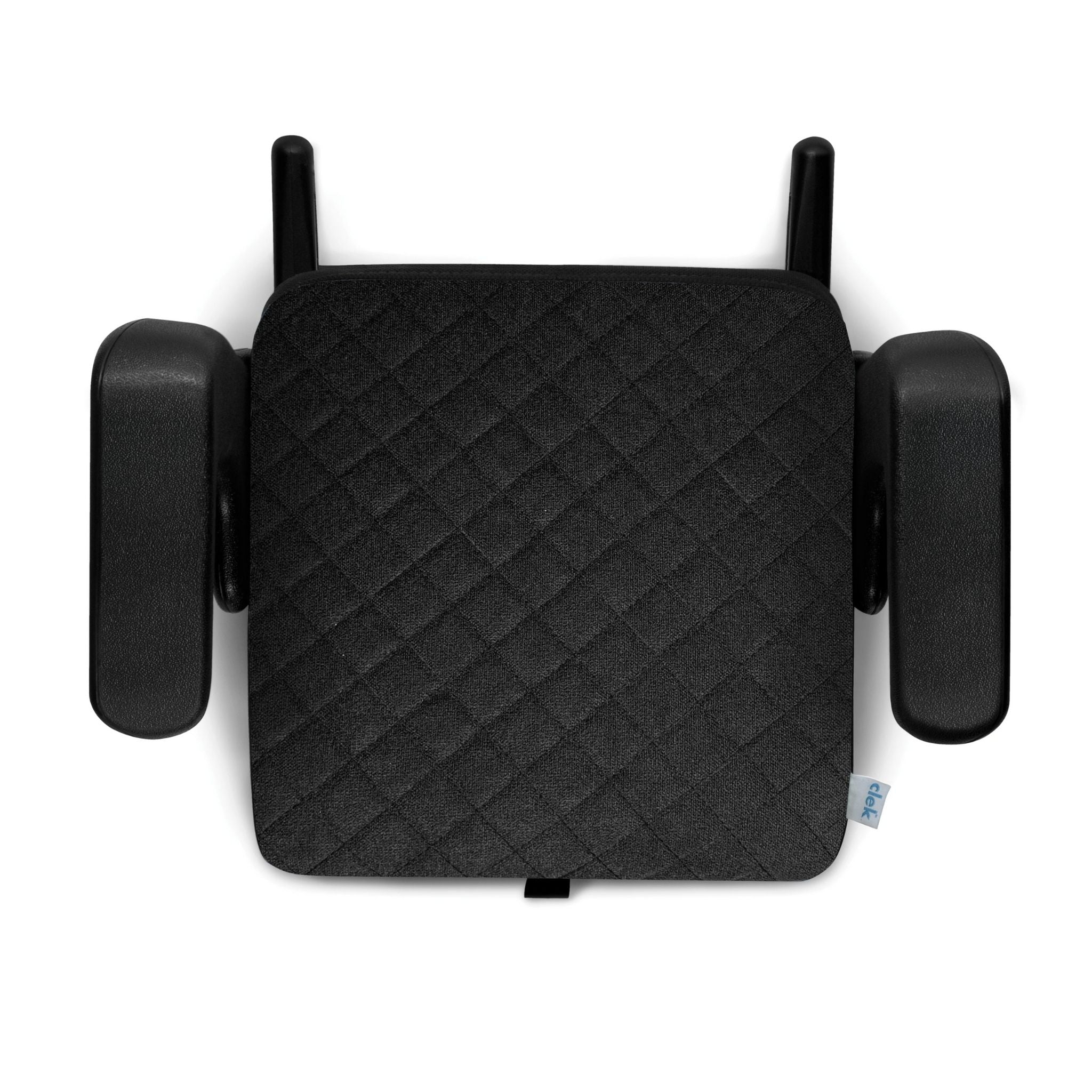 clek olli booster seat shadow x, black with x pattern