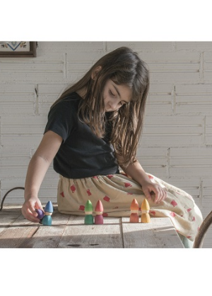 Rainbow Wood Tomtens  -Go Green Baby