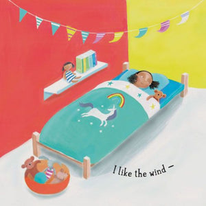 "text reads ""I like the wind - ""kid lying in bed"