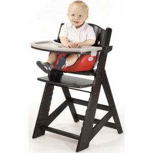 keekaroo adjustable high chair with infant insert and tray espresso black coloured wood chair cherry bright red infant insert