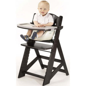 keekaroo adjustable high chair with infant insert and tray espresso black coloured wood chair vanilla off white infant insert