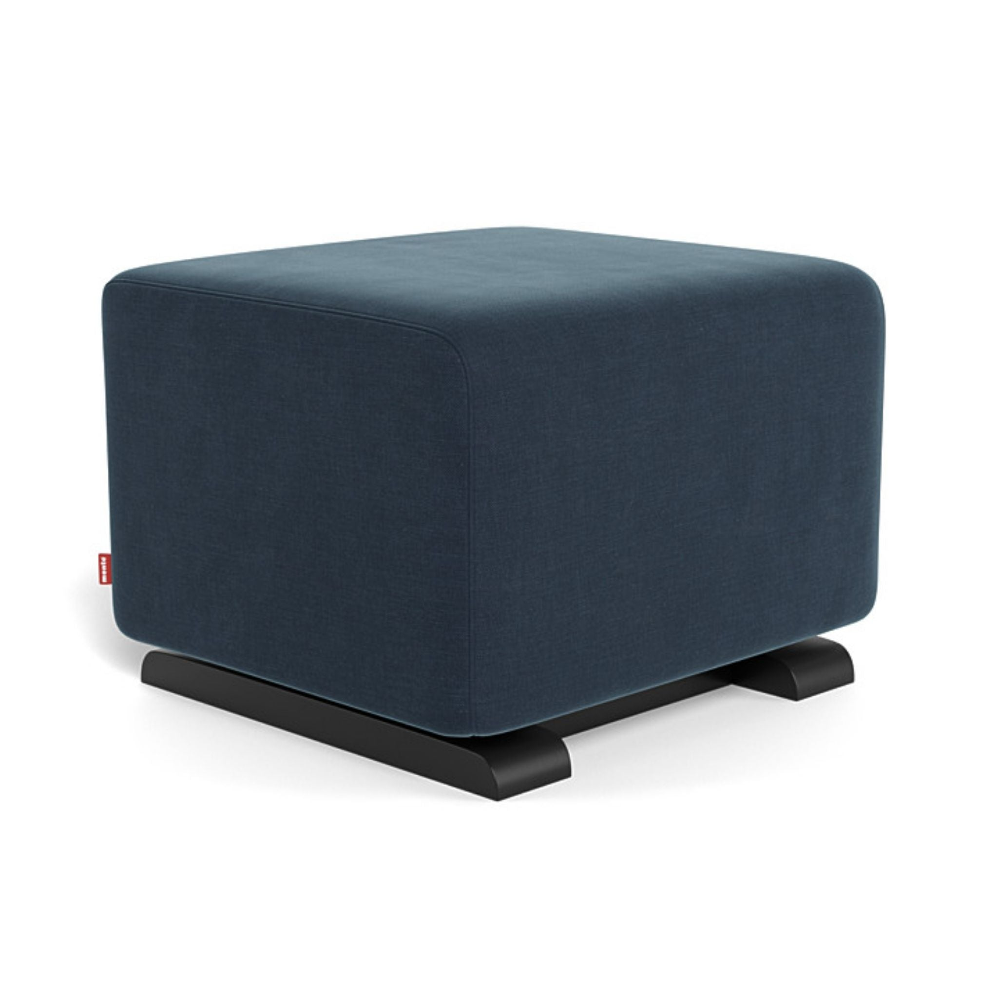 monte como ottoman cotton linen midnight blue navy espresso base