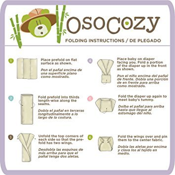Osocozy Organic Unbleached Cotton Prefolds (Pack of 6)