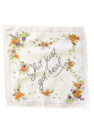 Boldfaced Goods Mom Tears Handkerchief  -Go Green Baby
