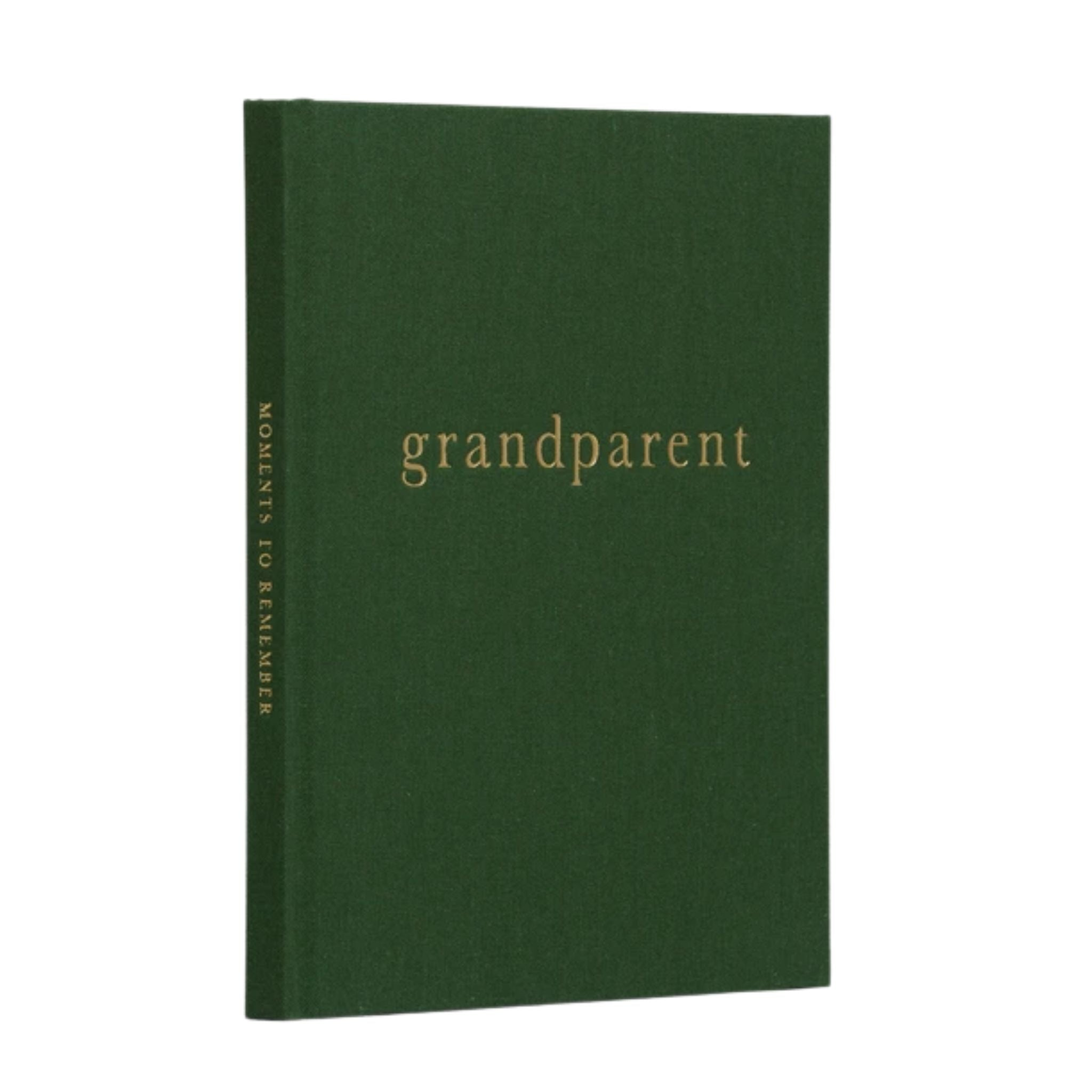 write to me grandparent journal dark green