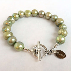 Large Natural Pearls Clasp Bracelet