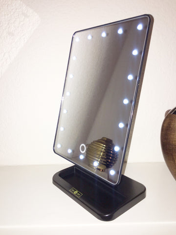 vanity with lights on mirror. LUX LED Lights Vanity Mirror  BOX
