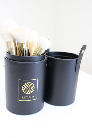 Black LUX Brush Case for makeup brushes