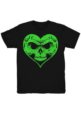 Alexisonfire - Green Heartskull T-Shirt