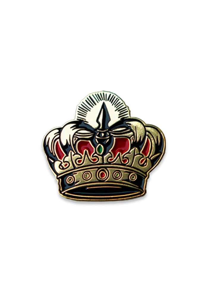 Sometimes Crown Lapel Pin
