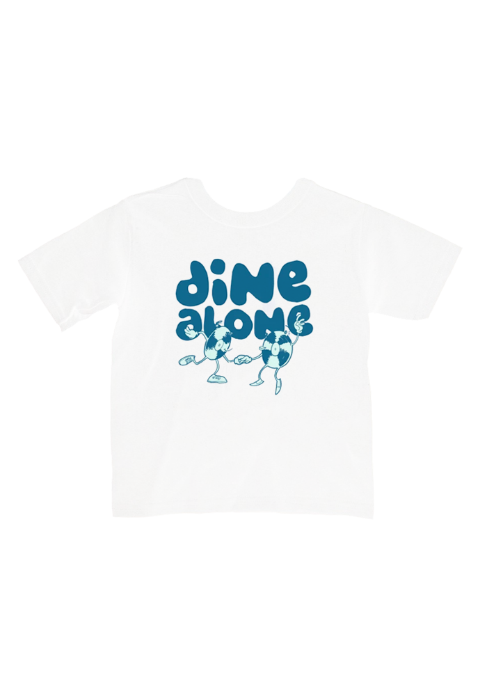 Dine Alone - Dancing Records Youth T-Shirt (White)