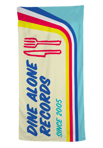 Dine Alone - Vintage Beach Towel